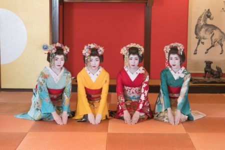 Sakata maiko dance performance